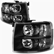Pair of Headlights Head Lights Lamp Set for 07-14 Chevy Silverado 1500 2500 3500