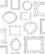 Wallpaper Muriva- Luxury Metallic Frames - Photo / Picture Frames White - 575219