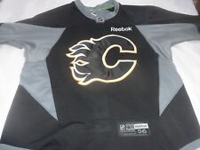 Reebok Edge 3.0 Player Worn Calgary Flames Practice Hockey Jersey Size 56