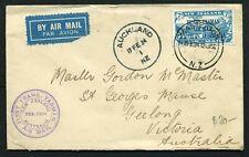 New Zealand 1934 Trans Tasman Airmail Cover