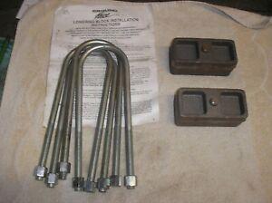 Lowering blocks kit 2 pouces Chevrolet Bel Air Cadillac Pontiac Buick Oldsmobile