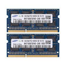Samsung 4GB (2x 2GB) DDR3-1333MHz PC Laptop Notebook Memory PC3-10600 SODIMM RAM