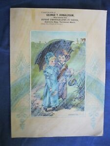 Victorian Trade Card George T Donaldson Photographer Tiffin OH Admiration 5A