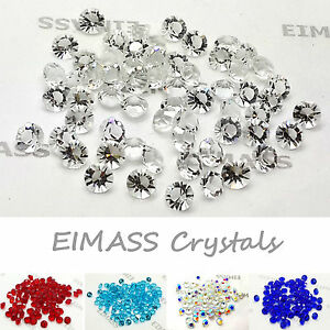GLASS DIAMONDS, WEDDING TABLE SCATTER CRYSTALS DECORATION, EIMASS® 3787 CHATONS