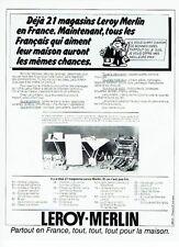 Publicité Advertising 057  1978  Magasins bricolages Leroy-Merlin