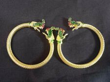 Thai traditional Dance Costume Serpent coated gold wristband ACCESSORIES Snake