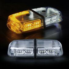 "36 LEDs Security System Emergency Rooftop LED Strobe 12"" Lights Bar White Amber"