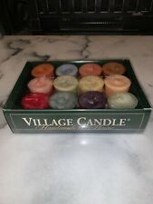 Village Candle Scented Votive Candles 12 Pack Handmade In Maine 90's Vintage Lot