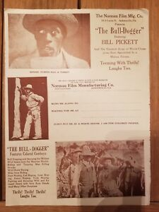 1921 The Bull-Dogger Pressbook Bill Pickett Cowboy