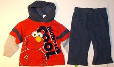Sesame Street Elmo Infant Boys 2pc Hooded Sweatshirt & Pants Set Size 12M NWT