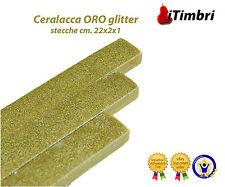 Ceralacca  Metalizzata 5 stecche  cm. 23x2x1 Extra fine colore ORO glitter