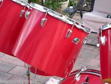 """RARE 1970's LUDWIG RED CORTEX 15"""" CONCERT TOM for DRUM SET LOT #R121"""