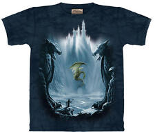 Lost Valley Dragon Fantasy Hand Dyed Adult T-Shirt, New Unworn