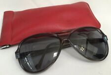 Vintage Large Over-Sized Tortoise Sunglasses Greece TH w/ Red Case (RF292)