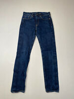 LEVI'S 522 SLIM TAPERED Chino Jeans - W29 L34 - Navy - Great Condition - Men's