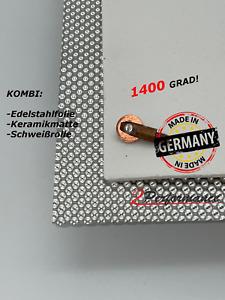 Angebot! Kalotte Hitzeblech 1000 x 500 mm mit Keramik Matte u. Schweißrolle M6