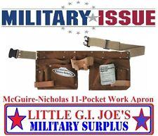 NEW McGuire Nicholas 11 Pkt Handyman Apron Suede Leather Carpenter Tool Belt MB