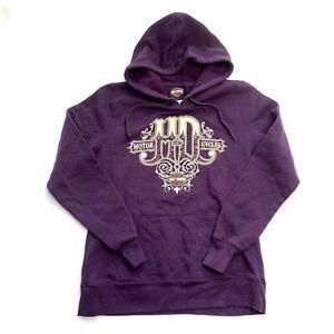 Women's Harley Davidson Purple Hoodie Sweatshirt Size Medium M Aurora Colorado