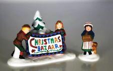 New ~ Dept 56 New England ~ Christmas Bazaar Sign ~ Mint In Box 56598