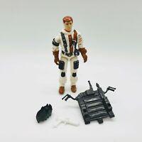 "Gi Joe BLIZZARD V1 Series 7 Vintage 1988 Hasbro 3.75"" Backpack Handles Gun Shoe"