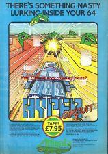 Hyper Circuit Commodore 64 Alligata Software 1985 Vintage Magazine Advert #5272