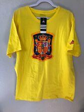 NEW YELLOW Adidas Spain Espana Soccer Shirt Football XL Vintage Villa Jersey