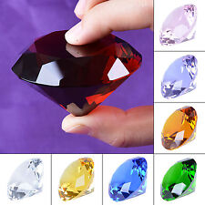 60mm Crystal Diamond Paperweight Ornament Wedding Table Decoration Cake Toppers