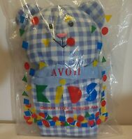 AVON Vintage Teddy Bear Organizer Bag Blue Children's Bag GinghamNEW Sealed