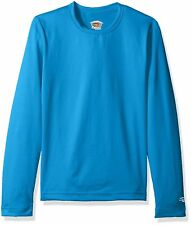 9c9a8cba DUOFOLD Big Girls' Mid Weight Varitherm Thermal Shirts,Blue,Size  XLARGE,$19.99