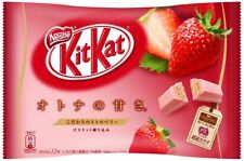 japanese kit kats candy  NESTLES mini kitkat 2017 STRAWBERRY flavored chocolate
