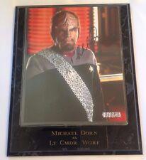 Star Trek Autographed Plaque Michael Dorn Commander Worf