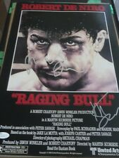 Robert Deniro Martin Scorsese Signed Raging Bull 12X18 W/Proof Jsa Authenticated