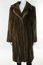 Michael Kors Brown Collared Mink Fur Long Sleeve Coat Size Medium