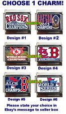 Boston Red Sox 2013 World Series Champions Custom Italian Charm! Choose! ALCS