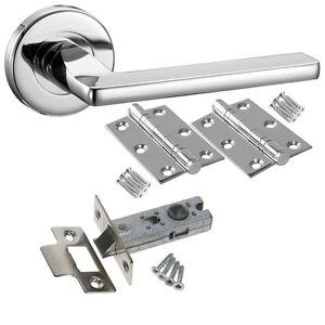 Leon Internal Door Handle Packs Lever on Rose - Latch Lock Bathroom Handle Sets
