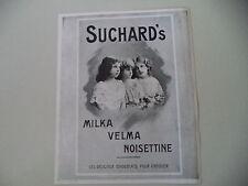 advertising Pubblicità 1912 MILKA VELMA NOISETTINE SUCHARD'S