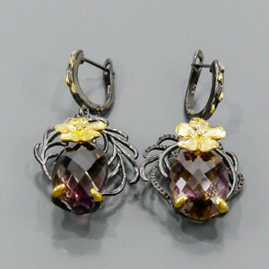 Beautiful jewlery Ametrine Earrings Silver 925 Sterling   /E55797
