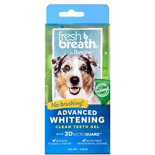 Fresh Breath by TropiClean No Brushing Oral Care Gel for Dogs With Advanced W.