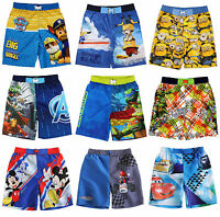 Boys Swim Shorts Swimming Trunks Paw Patrol Minions Avengers TMNT Age 2-10 Years