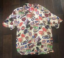 012adc8a2 Chicago Bears Hawaiian 100% Rayon Football Shirt Men s Medium