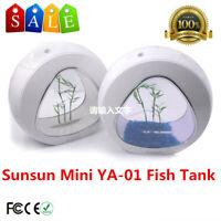 Sunsun Mini Aquarium YA-01 Nano Fish Tank White Built-in Filter and LED Light