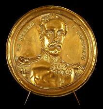 Médaillon au Gouverneur d'Algérie et général Eugène Cavaignac c 1850 11,5 cm