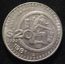 1981 Mexico 20 Pesos Nice Coin Free Shipping