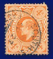 1911 SG286 4d Bright Orange M27(1) Fair Used SP 27 12 CV-FU £15 andd