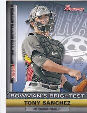 PITTSBURGH PIRATES TONY SANCHEZ 2011 BOWMAN BOWMAN'S BRIGHTEST #BBR24 ROOKIE RC