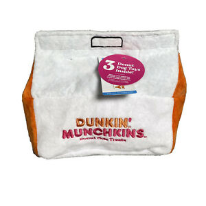 New Rare BARK Dunkin Donuts Munchkins Barkbox Dog Toy Sold Out In Stores