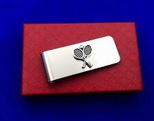 Tennis Money Clip Tennis Racket Player Racquet Sport BRAND NEW