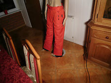 Damen Skihose Gr 38 rot 3M Thinsulate insulation Regenhose Thermo Ski pants