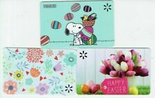 Walmart Gift Card Lot of 3 - Snoopy, Easter Eggs, Spring Flowers - No Value