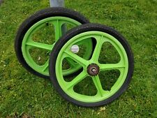 skyway wheels bmx in green 20inch diameter in good condition. Made in USA.